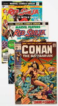 Bronze Age (1970-1979):Adventure, Conan the Barbarian/Red Sonja Group of 8 (Marvel, 1970-85) Condition: Average FN.... (Total: 8 Comic Books)
