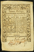 Colonial Notes:Rhode Island, Rhode Island May 1786 20s Fine-Very Fine.. ...