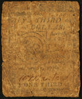 Colonial Notes:Continental Congress Issues, Continental Currency February 17, 1776 $1/3 Very Good.. ...