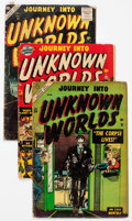 Golden Age (1938-1955):Horror, Journey Into Unknown Worlds Group of 6 (Atlas, 1951-57) Condition:Average GD.... (Total: 6 Comic Books)