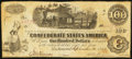 "Confederate Notes:1862 Issues, Manuscript Endorsement ""J U A"" T40 $100 1862 PF-1 Cr. 300.. ..."