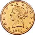 Liberty Eagles, 1860-S $10 -- Cleaning -- PCGS Genuine. AU Details. Secure....
