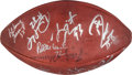Football Collectibles:Balls, 1996 Green Bay Packers Team Signed Super Bowl XXXI Football.. ...