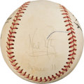 Baseball Collectibles:Balls, 1970's Apollo XI Astronauts Signed Baseball with Armstrong from The Gary Carter Collection.. ...
