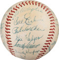 Baseball Collectibles:Balls, 1956 Brooklyn Dodgers Team Signed Baseball from The Gary Carter Collection.. ...