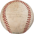 Baseball Collectibles:Balls, 1975 All-Star Game Last Out Baseball Signed by National League Team from The Gary Carter Collection.. ...