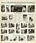 """Movie Posters:Horror, The Monster (MGM, 1925). Uncut Pressbook (6 Pages, 11"""" X 18"""").. ..."""