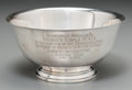Silver Holloware, American:Bowls, An International Silver Co. Sterling Presentation Bowl from KiwanasInternational. Marks: PAUL REVERE REPRODUCTION, INTERN...