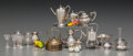 Decorative Arts, Continental:Other , Twenty Silver, Glass and Mixed Media Doll House Miniatures, circa1939. Marks: (various). 2 inches high (5.1 cm) (tallest, h...(Total: 19 Items)