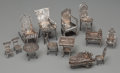 Silver Holloware, Continental:Holloware, Thirteen Pieces of Silver Dollhouse Furniture, early 20th century.Marks: (various). 2-1/8 inches high (5.4 cm) (tallest). 3...(Total: 13 Items)