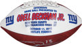 Football Collectibles:Balls, 2015 New York Giants Offensive Game Ball Presented to Odell Beckham Jr.. ...