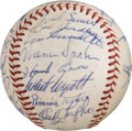 Baseball Collectibles:Balls, 1962 Milwaukee Braves Team Signed Baseball from The Ken Aspromonte Collection....