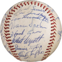 1962 Milwaukee Braves Team Signed Baseball from The Ken Aspromonte Collection