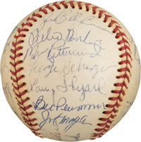 1975 Cincinnati Reds Team Signed Baseball from The Ken Aspromonte Collection