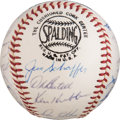 Baseball Collectibles:Balls, 1963 Chicago Cubs Team Signed Baseball from The Ken Aspromonte Collection - With Ken Hubbs....