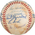 Baseball Collectibles:Balls, 1963 Chicago Cubs Team Signed Baseball with Ken Hubbs from The Ken Aspromonte Collection....