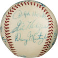 Baseball Collectibles:Balls, 1963 Major League Managers Multi-Signed Baseball.. ...