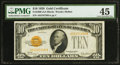 Small Size:Gold Certificates, Fr. 2400 $10 1928 Gold Certificate. PMG Choice Extremely Fine 45.. ...
