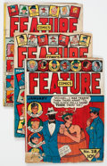 Golden Age (1938-1955):Miscellaneous, Feature Comics Group of 7 (Quality, 1940-45).... (Total: 7 Comic Books)