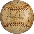Autographs:Baseballs, 1934 New York Yankees Team Signed Baseball.. ...