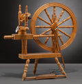 Furniture , A Wooden Spinning Wheel from Shirley Temple's Childhood, circa 1930s. 26 h x 26 w x 12-1/2 d inches (66.0 x 66.0 x 31.8 cm)...