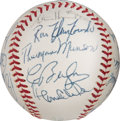 Baseball Collectibles:Balls, 1970 New York Yankees Team Signed Baseball with Rookie ThurmanMunson, PSA/DNA Mint 9.. ...
