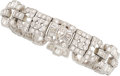 Estate Jewelry:Bracelets, Diamond, Platinum Bracelet. ...