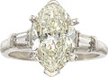 Estate Jewelry:Rings, Diamond, Platinum Ring, Ruser. ...