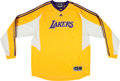 Basketball Collectibles:Uniforms, 2003-04 Karl Malone Game Worn Los Angeles Lakers Warm-up Shirt& Trunks.. ...