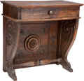 Furniture : Continental, An Italian Renaissance Walnut Single-Drawer Writing Desk, 16thcentury . 32-1/4 h x 29-1/2 w x 18 d inches (81.9 x 74.9 x 45...