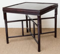 Asian:Chinese, A Chinese Hardwood Games Table. 30 h x 32-1/2 w x 32 d inches (76.2x 82.6 x 81.3 cm). ...
