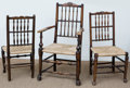 Furniture , Six French Provincial Carved Oak and Rush-Seat Chairs, 19th-20th century. 43 h x 25-1/4 w x 18 d inches (109.2 x 64.1 x 45.7... (Total: 6 Items)
