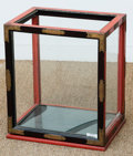 Asian:Chinese, A Japanese Gilt Bronze Mounted Red and Black Lacquered Vitrine,early 20th century. 19 h x 16-1/2 w x 12 d inches (48.3 x 41...