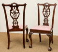 Furniture , Eight Chippendale-Style Carved Mahogany Dining Chairs, late 20th century. 41 h x 24 w x 19 d inches (104.1 x 61.0 x 48.3 cm)... (Total: 8 Items)