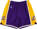 Basketball Collectibles:Uniforms, 2010's Kobe Bryant Game Worn Los Angeles Lakers Shorts.. ...