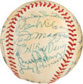 Baseball Collectibles:Balls, 1980 Hall of Famers Multi-Signed Baseball from The Gary CarterCollection. . ...