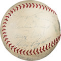 Baseball Collectibles:Balls, 1938 Chicago Cubs Team Signed Baseball. . ...