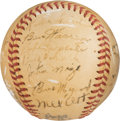 Baseball Collectibles:Balls, 1946 New York Giants Team Signed Baseball.. ...