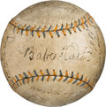 Baseball Collectibles:Balls, 1930 New York Yankees Team Signed Baseball....