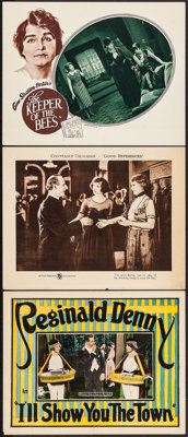 """I'll Show You the Town & Others Lot (Universal, 1925). Lobby Cards (3) (11"""" X 14""""). Comedy. ... (Total..."""