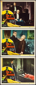 "Movie Posters:Horror, Son of Dracula (Realart, R-1948). Lobby Cards (3) (11"" X 14"").Horror.. ... (Total: 3 Items)"