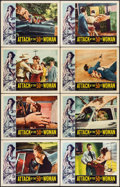 "Movie Posters:Science Fiction, Attack of the 50 Foot Woman (Allied Artists, 1958). Lobby Card Setof 8 (11"" X 14""). Science Fiction.. ... (Total: 8 Items)"