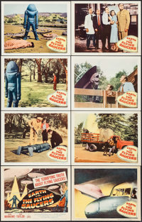"Earth vs. the Flying Saucers (Columbia, 1956). Lobby Card Set of 8 (11"" X 14""). Science Fiction. ... (Total: 8..."