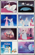 "Movie Posters:Animation, Cinderella (Buena Vista, R-1973). Lobby Card Set of 8 (11"" X 14"").Animation.. ... (Total: 8 Items)"