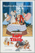 "Movie Posters:Animation, Lady and the Tramp & Other Lot (Buena Vista, R-1980). OneSheets (2) (27"" X 41""). Animation.. ... (Total: 2 Items)"