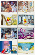 "Movie Posters:Animation, The Sword in the Stone/Winnie the Pooh and a Day for Eeyore Combo(Buena Vista, 1983). Lobby Card Set of 8 (11"" X 14""). Anim...(Total: 8 Items)"