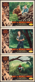 "Movie Posters:Science Fiction, Day the World Ended (American Releasing Corp., 1956). Lobby Cards(3) (11"" X 14""). Science Fiction.. ... (Total: 3 Item)"