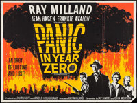 "Panic in Year Zero (Anglo Amalgamated, 1962). Silk Screen British Quad (30"" X 40""). Science Fiction"