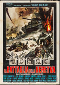 "Movie Posters:War, The Battle of Neretva (American International, 1969). Italian 2 -Fogli (39.25"" X 55""). War.. ..."