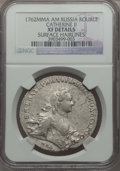 Russia, Russia: Catherine II Rouble 1762 MMД-ДM XF Details (Surface Hairlines) NGC,...